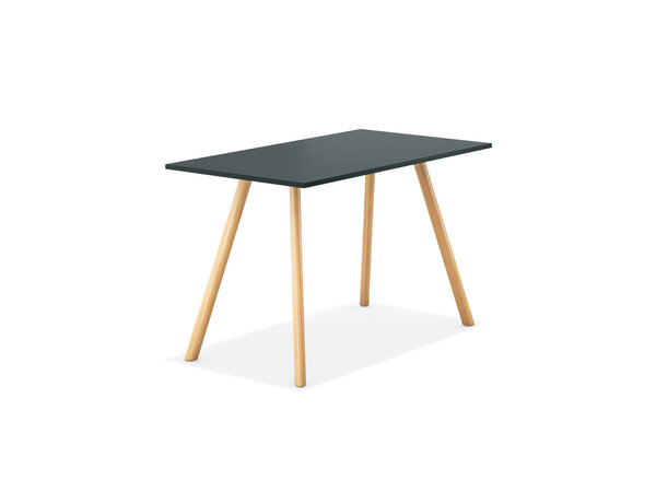 6860 Table haute rectangulaire, sans joint plateau